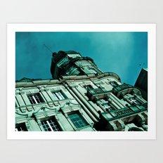 At the top. Art Print