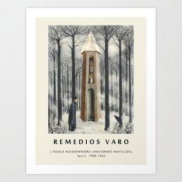 Poster-Remedios Varo-L'École buissonnière (Haciendo novillos). Art Print