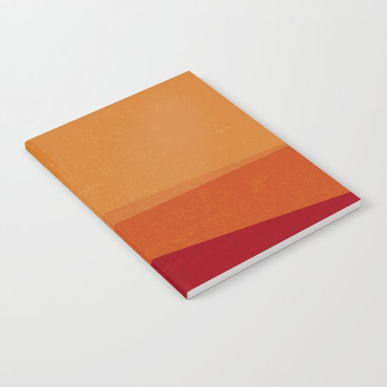 Stripe X Orange Peel Notebook