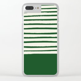 Holiday x Green Stripes Clear iPhone Case