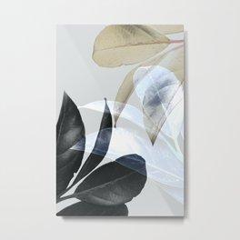 Moody Leaves II Metal Print