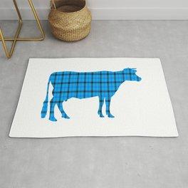 Cow: Light Blue Plaid Rug