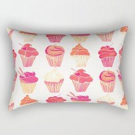 Cupcake Collection – Pink & Cream Palette Rectangular Pillow
