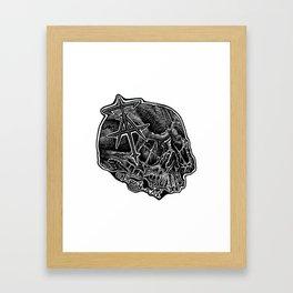 InsanitynArt's Skull Logo. Framed Art Print