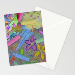 Sidewalk Chalk Stationery Cards