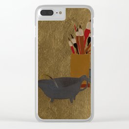 Kettle and Box with Paint Brushes , Shibata Zeshin Clear iPhone Case