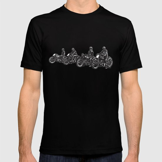 RACEDAY ANYDAY vintage flattrack motorcycle racers T-shirt