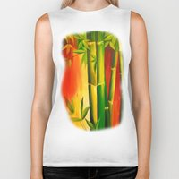 bamboo Biker Tanks featuring Bamboo by OLHADARCHUK