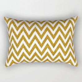 Gold Glitter Chevrons Rectangular Pillow