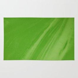 Blurred Emerald Green Wave Trajectory Rug