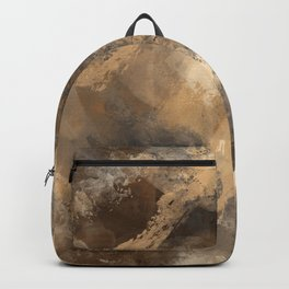 Stormy Abstract Art in Brown and Gray Backpack