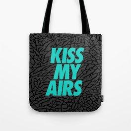 Jordan Black Cement: Kiss My Airs Tote Bag