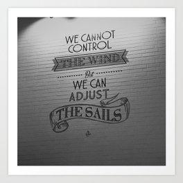 Lido words of wisdom Art Print