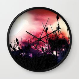 Moon Birds Wall Clock