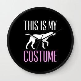 Dog Costume Wall Clock