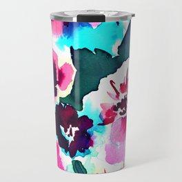 Zoe Floral Pink Travel Mug