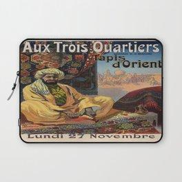 Vintage poster - Aux Trois Quartiers Laptop Sleeve