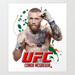 Conor McGregor UFC Art Print