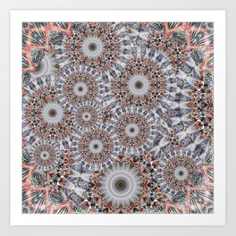Random play with mandalas Art Print