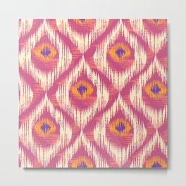 Ikat pattern Metal Print