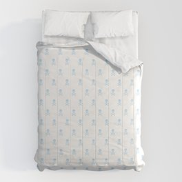 SKULLS PATTERN - LIGHT BLUE - LARGE Comforters