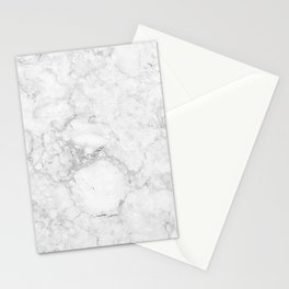 Light Grey Marble Texture Stationery Cards