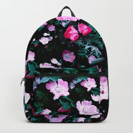 Emerald Green And Rose Blush Floral Backpack