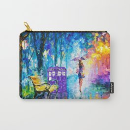 Little Tardis With The Girl Carry-All Pouch