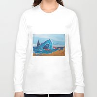 carnage Long Sleeve T-shirts featuring Simulating   a carnage by Lázaro Hurtado Art