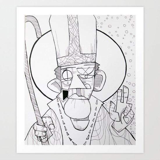 Pope Art Print
