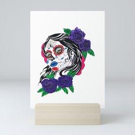 day of the dead girl Mini Art Print