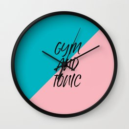Gym and Tonic Wall Clock