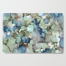 Alcohol Ink Sea Glass Cutting Board
