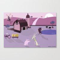 farm Canvas Prints featuring Farm by Andrew Formosa