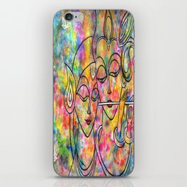 Radha Krishna Abstract colorful painting by Manjiri Kanvinde iPhone Skin