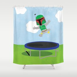 SW Kids - Boba Fett Jump Shower Curtain