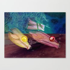 Little fishes float in dreams and nothings ever as it seems Canvas Print