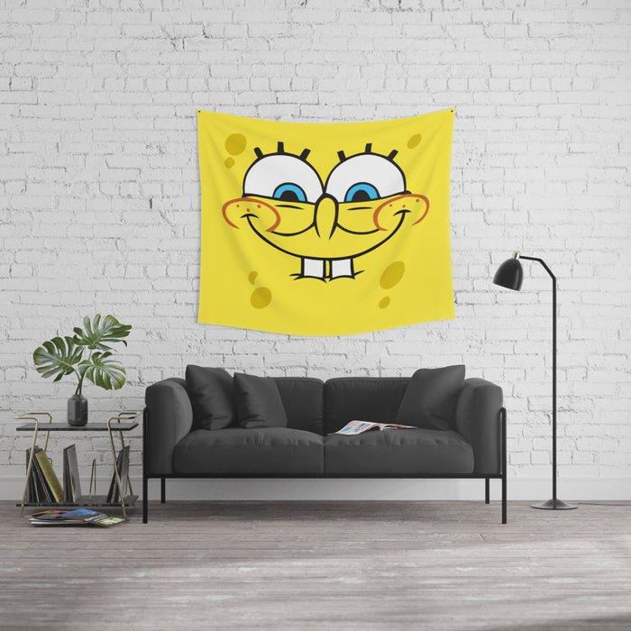 Spongebob Naughty Face Wall Tapestry by cutecutecute | Society6