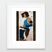 the legend of korra Framed Art Prints featuring Korra by MJ Erickson