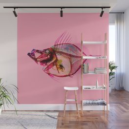 Mirror Dory with pink Wall Mural