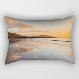 Sunsets over Buncrana Beach Rectangular Pillow