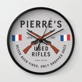 Pierre's Used Rifles Wall Clock