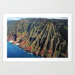 Napili coast from the air Art Print
