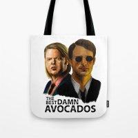 daredevil Tote Bags featuring Daredevil by IremYorukoglu