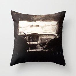 Supernatural: Black & White Backseat Throw Pillow