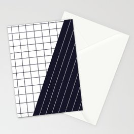 Grid & Stripes Stationery Cards
