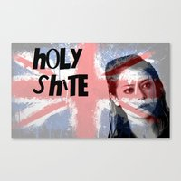 orphan black Canvas Prints featuring Orphan Black  - Holy Shite by Sullied By A Dream