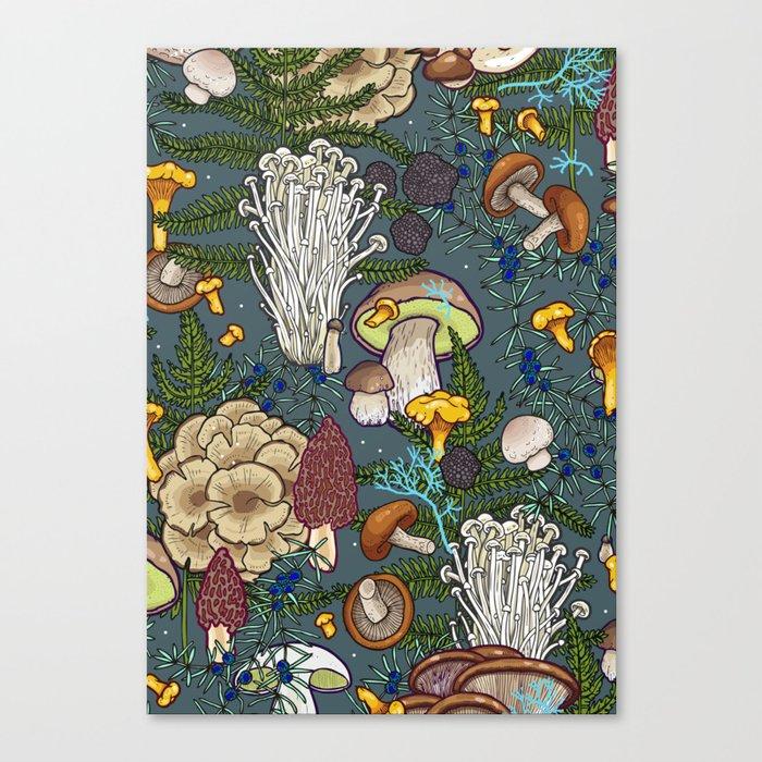 mushroom forest Leinwanddruck