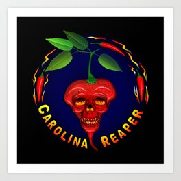 Carolina Reaper Skull Art Print