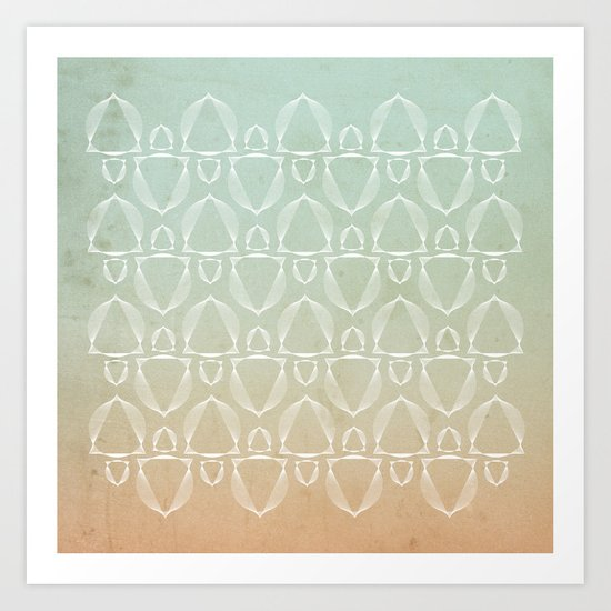 """""""North and South"""" pattern version Art Print"""
